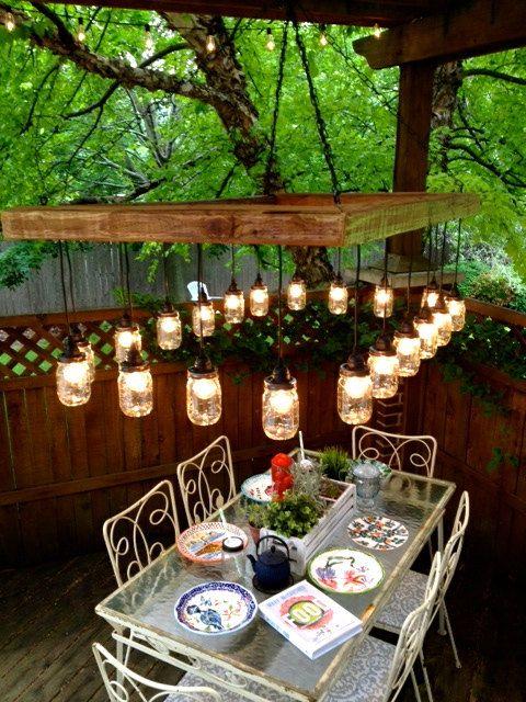 60 X 36 Mason Jar Chandelier Mason Jar Lighting by ChicagoLights