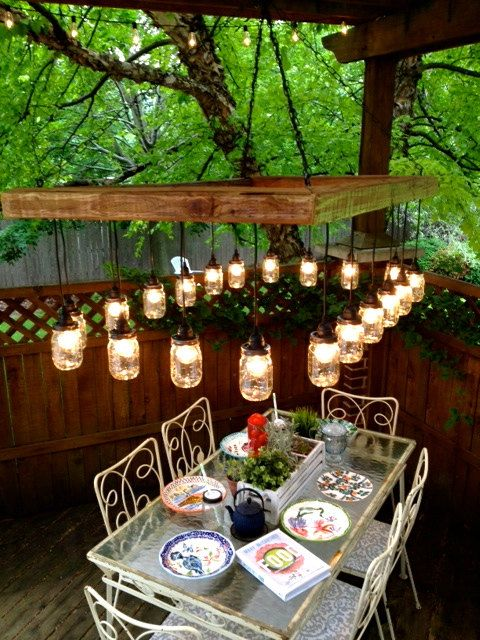 60 X 36 Mason Jar Chandelier Mason Jar Lighting by ChicagoLights