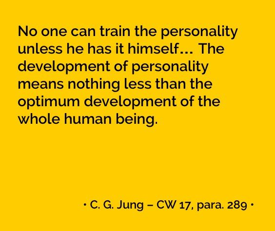C. G. Jung about the development of the personality, CW 17