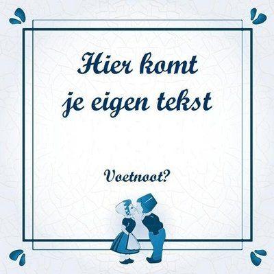 Delfts Blauw tegeltje (nr.58)