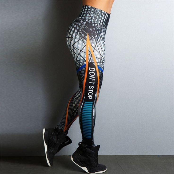 Ins Same Women Fitness Leggings Skinny High Waist Elastic Push Up Legging Workout Sexy Long Pants