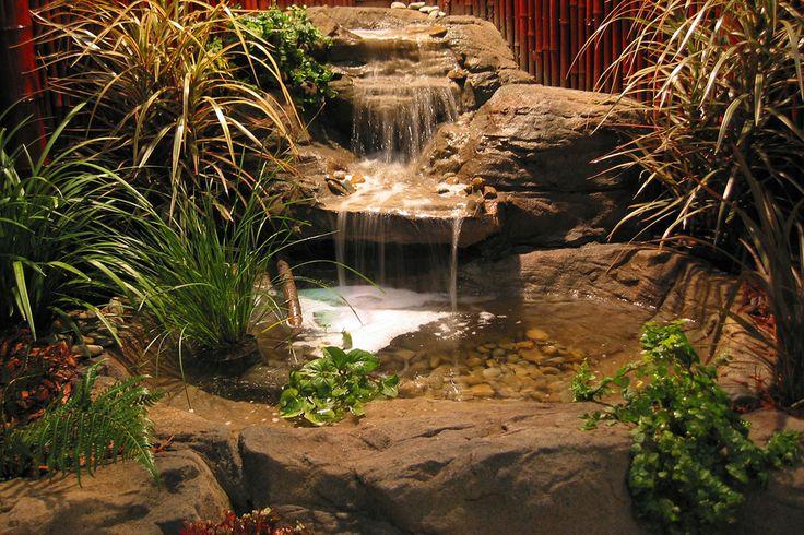 25 best ideas about rock waterfall on pinterest garden for Artificial waterfalls design