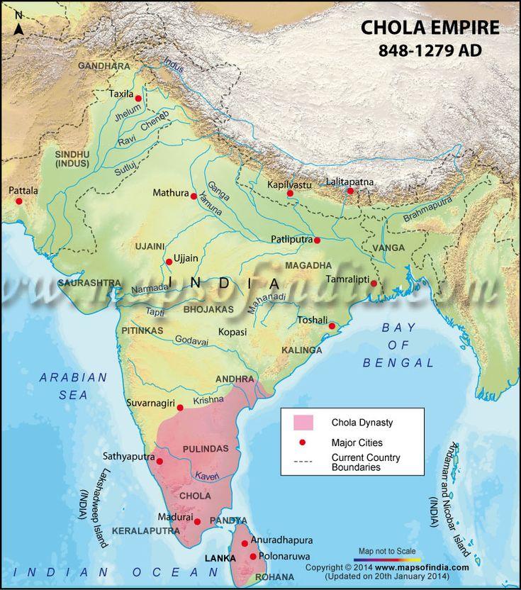 Map of Chola Dynasty