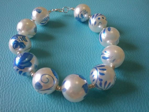 Hey, I found this really awesome Etsy listing at https://www.etsy.com/au/listing/264451320/pearl-blue-bracelet
