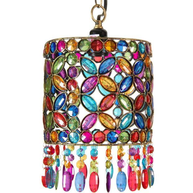 boho lamps | boho chic overhead light fixture or lantern style hanging lamp