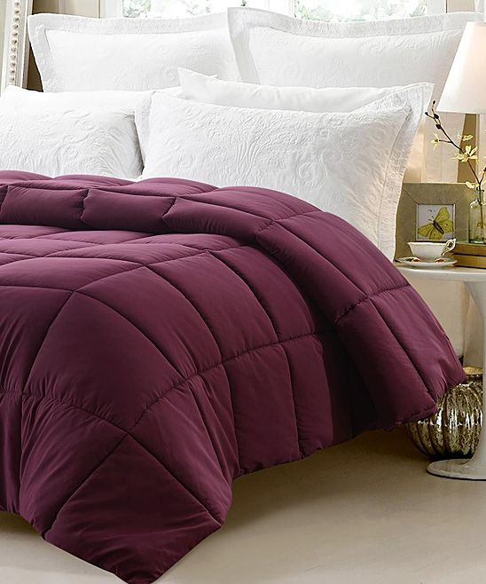 Dark Maroon Down-Alternative Oversize Comforter