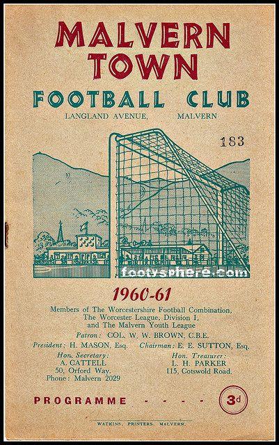 Malvern Town v Halesowen 1961 #cover #design #vintage #graphic