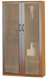 office wall cabinets with doors. tall glass display cabinet with modern style from the mayline napoli line of professional furniture at office deals. wall cabinets doors o