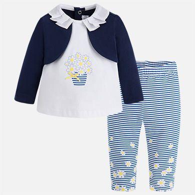 Conjunto leggings con rebeca niña