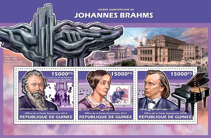 GU 13613 a180th anniversary of Johannes Brahms, (Clara Schumann, Stamp on stamp).