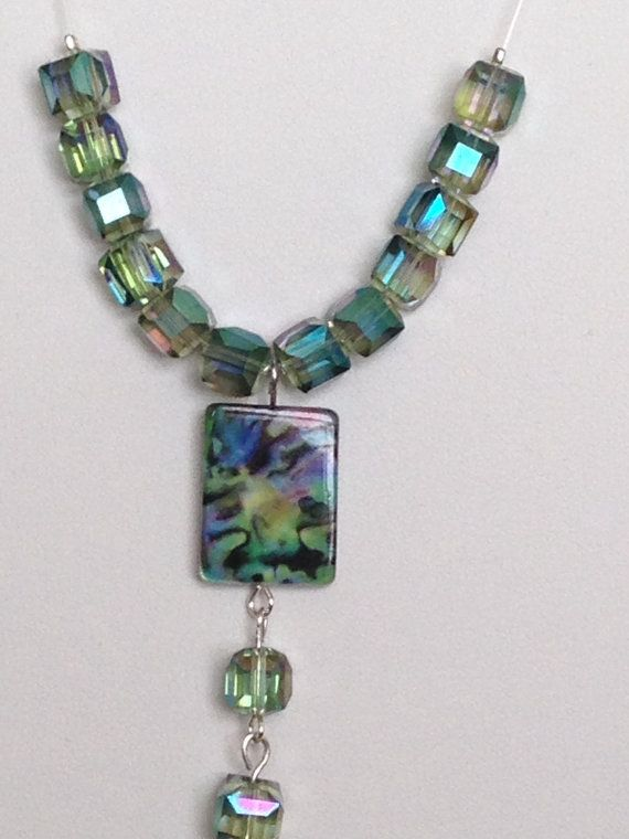 Multi colour necklace.