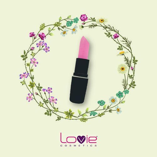 Πλημμύρισε με χρώμα! Κραγιόν Lovie Νο.34, για το πιο ροζ χάδι στα χείλη σου! #makeup #lovie #lipstick