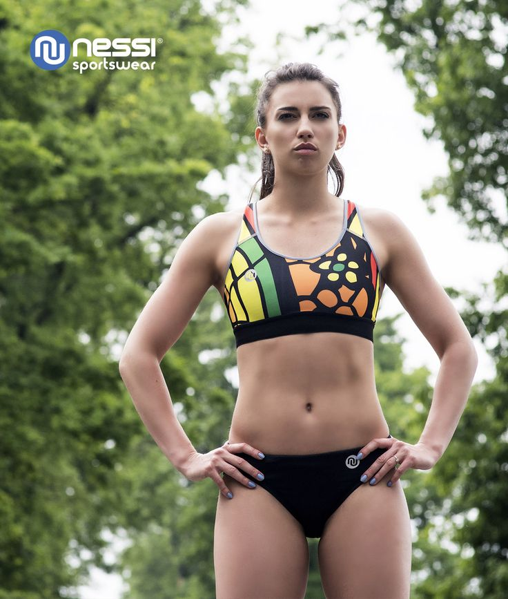 Sport Bra (model Colored Mosaic III) is ideal for active women looking for high quality and innovative, colourful designs. Women's Run Brief (model Black) have flat seams and are both soft to the touch and very durable.