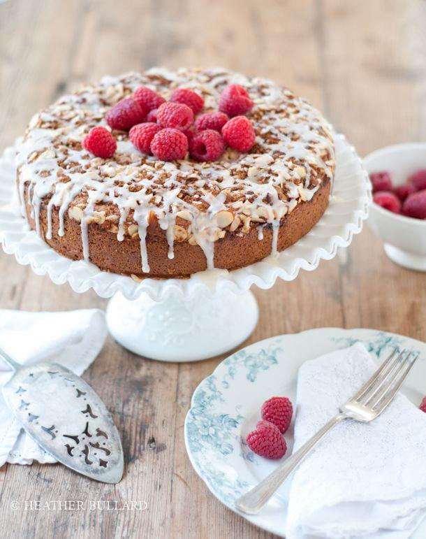 raspberry almond coffee cake   heather bullard