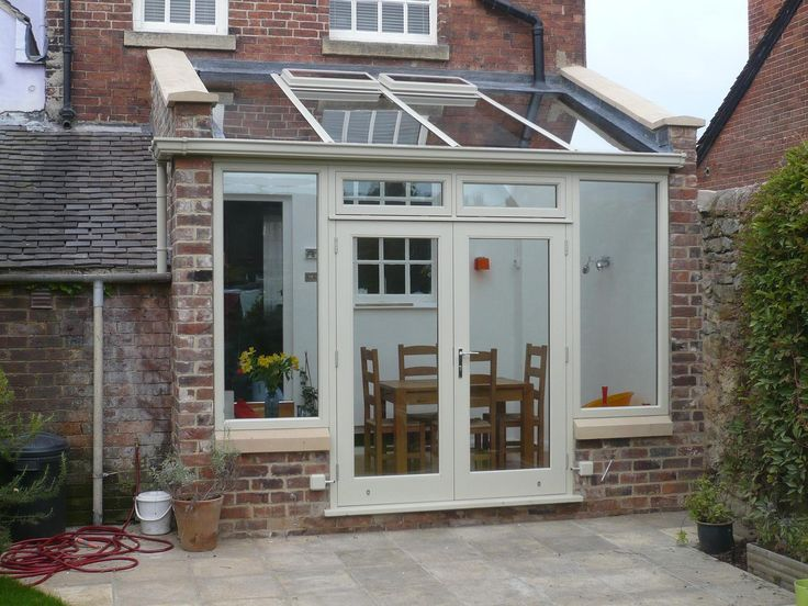 Basic lean-to design, hardwood conservatory. Derbyshire