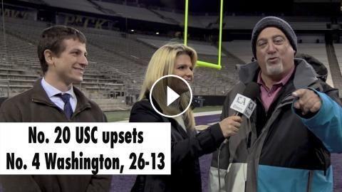 No. 20 USC upsets No. 4 Washington, 26-13: No. 20 USC upset No. 4 Washington, 26-13, at Husky Stadium SUBSCRIBE FOR MORE VIDEOS AND NEWS…