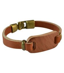 Buy Men  Leather Bracelet Brown color for Everyday wear Bracelet online
