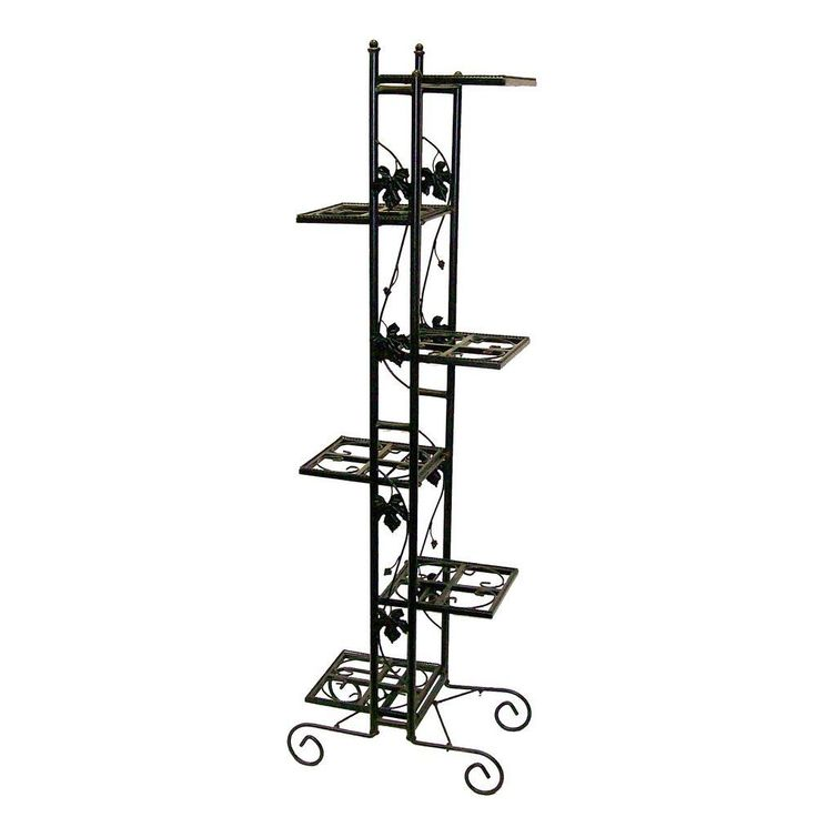 Oakland Living 6-Level Black Plant Stand-5199-BK at The Home Depot
