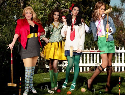 Can we take the time to appreciate that this is an actual Heathers inspired shoot?!??? Too fierce! Manila, Raja, Carmen, and Delta. #heathers