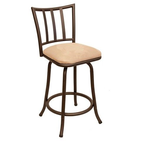 24 Quot Robinson Counter Stool Metal Brown Cheyenne Products