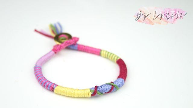 DIY : Le bracelet br�silien rond, le tuto le plus simple du monde !