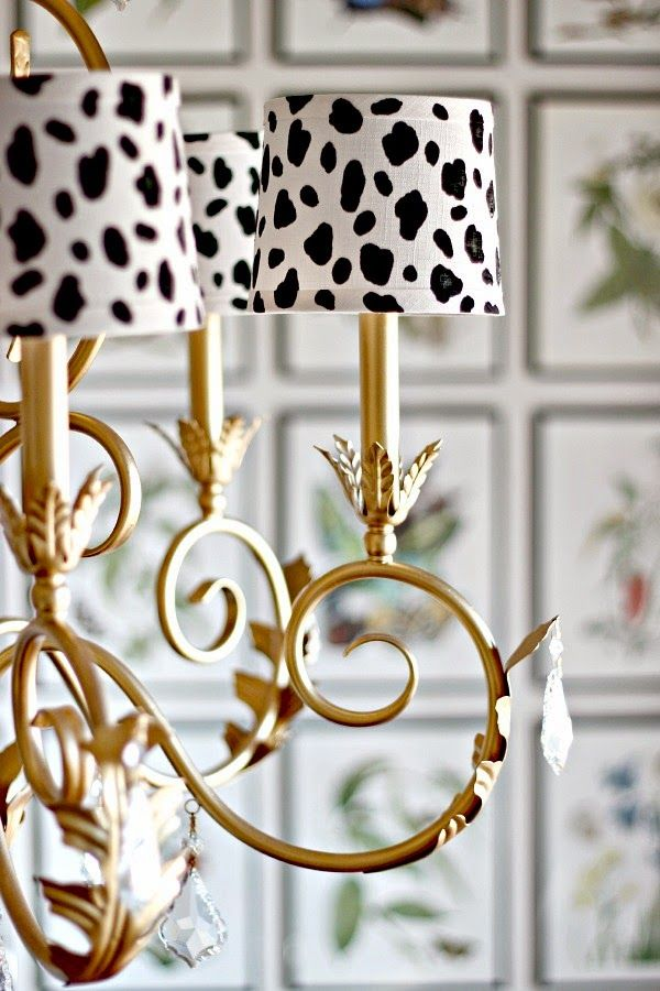 Chandelier shades - these win first place for Most Adorable Use of Dalmatian Dots