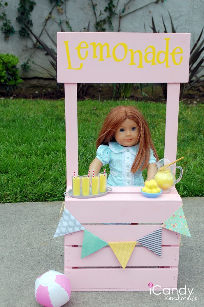 No one was more excited that my American Girl Lover Ivy when I mentioned the idea of creating a lemonade stand for her American Girl Doll.  It took a little shopping to find a crate that was the perfect height (found it at Michaels finally!) and then the rest was easy! Ivy had gotten(...)