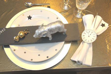 Tischdekoration Silvester Neujahr Tischdeko 3