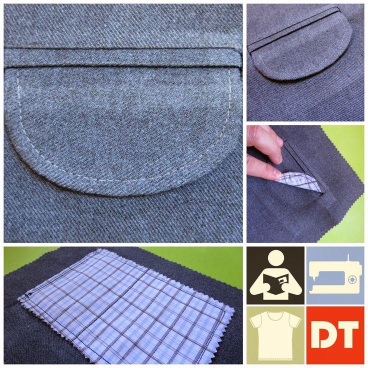 Excelente tutorial de como hacer un bolsillo con tapa, incluye video explicativo