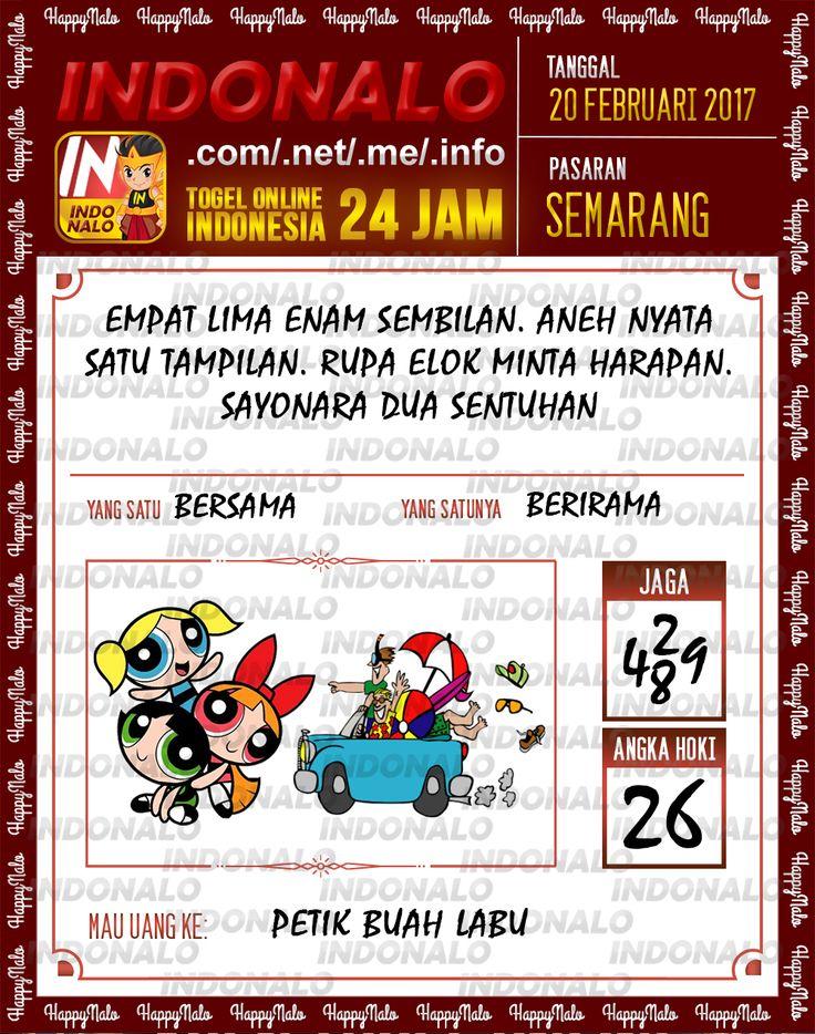 Taysen Hoki 4D Togel Wap Online Live Draw 4D Indonalo Semarang 20 Febuari 2017