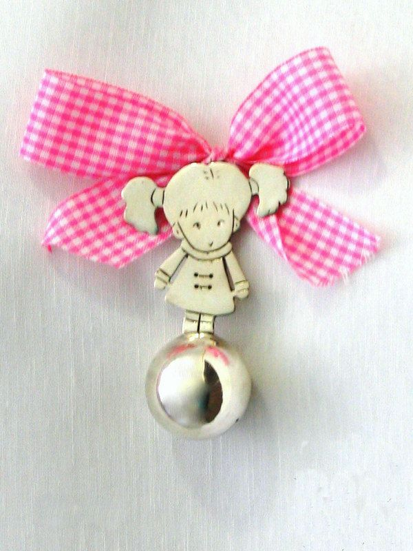 handmade girl rattle by KORMENTZACREATIONS on Etsy
