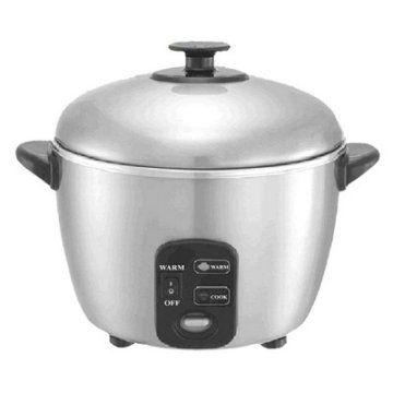 Sunpentown 6 Cup Stainless Steel Rice Cooker and Steamer $85 - love that this is made with steel and not aluminum