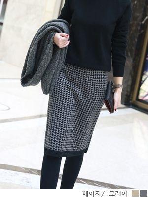 korean fashion online store [COCOBLACK] Hound Banding sk / Size : FREE / Price : 45.37 USD #korea #fashion #style #fashionshop #cocoblack #missyfashion #missy #skirts #bandingskirts