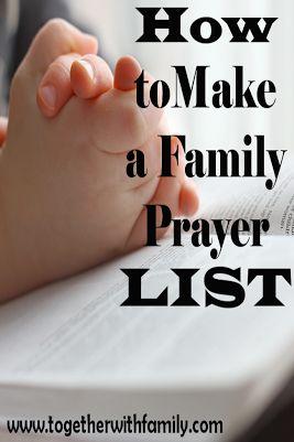 How to make a family prayer list!