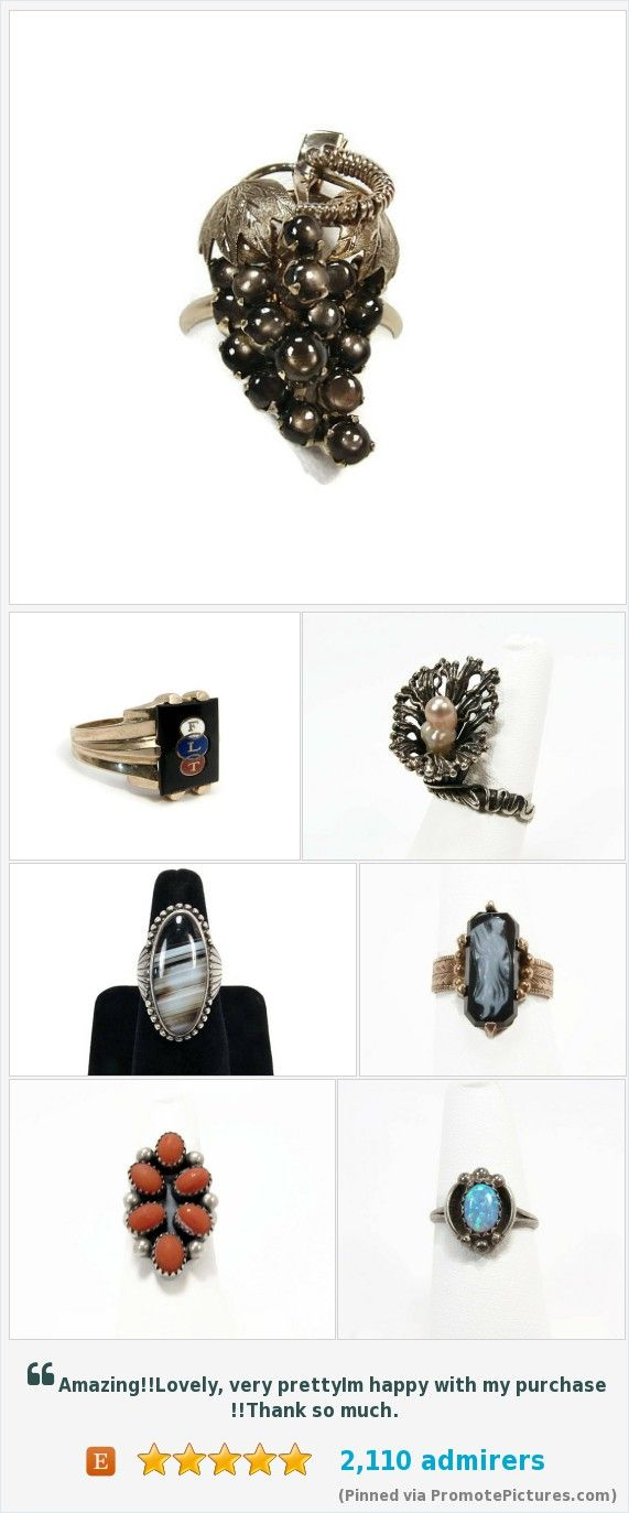 Vintage and Antique rings for sale at www.vintagegemz.com #vintage #rings #jewelry #estate #silver #gold https://www.etsy.com/shop/VintageGemz?ref=hdr_shop_menu&section_id=12504727