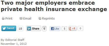 Two major employers embrace private health insurance exchange