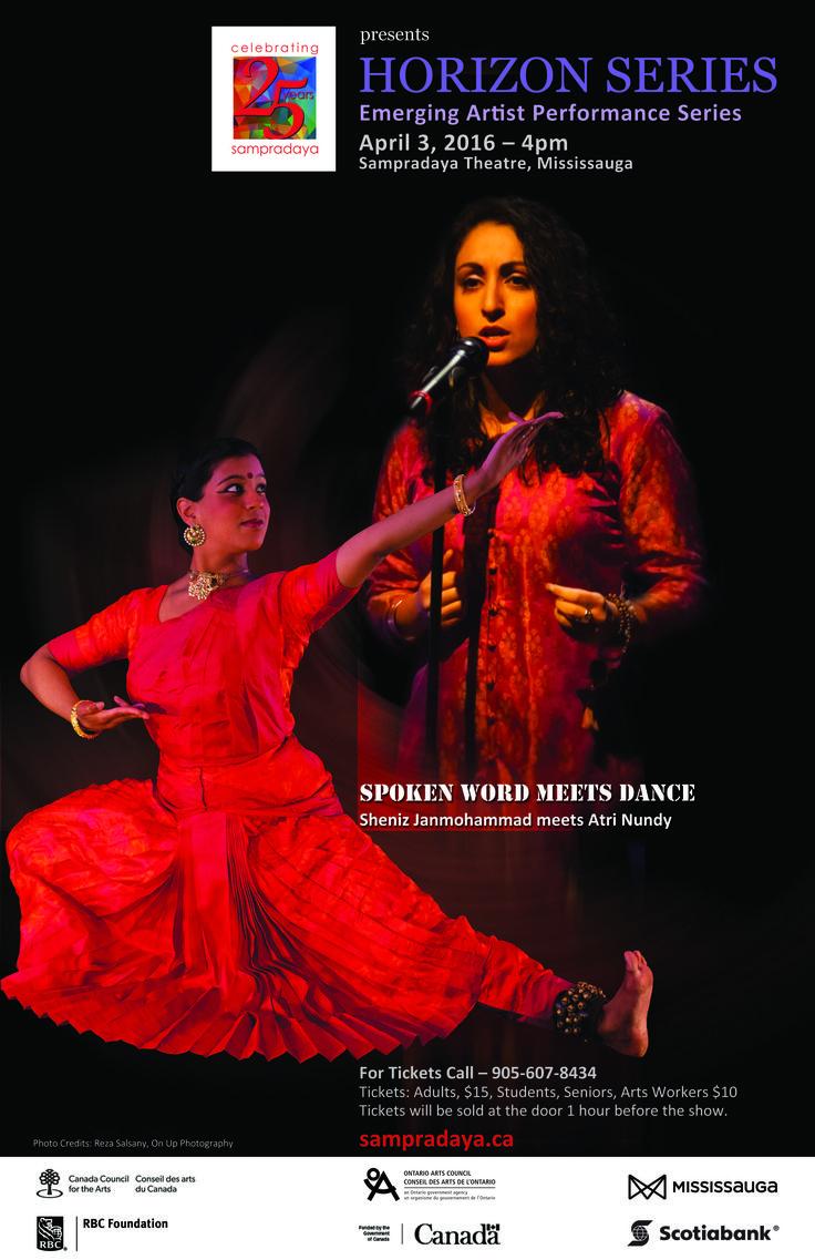 Join us April 3 for Sampradaya Dance Creation's Horizon Series event showcasing emerging artists. Love classical Indian dance!
