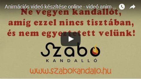 referencia videó - Szabó Kandalló - Kandalló Tippek