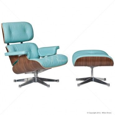 Eames Chair Replica - Majestic Edition - Aquamarine - Buy Replica Eames Chairs & Leather Lounge Chair - Milan Direct