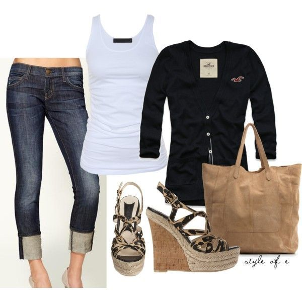 casual outfits, I'm not to sure about what shoes I would wear..... what do you think ?