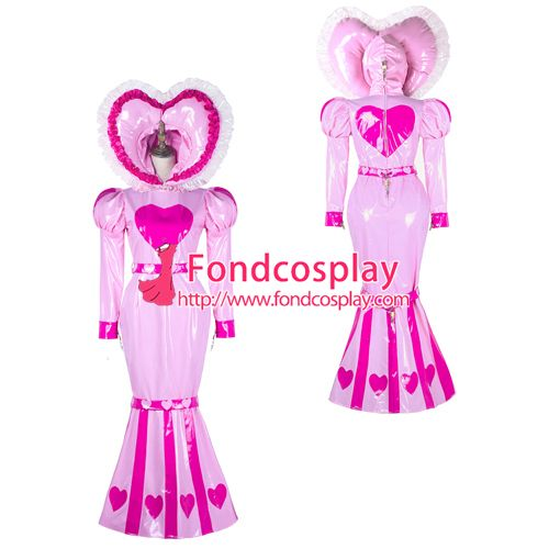 adult baby sissy maid PVC dress Fishtail lockable Tailor-made[G2339]