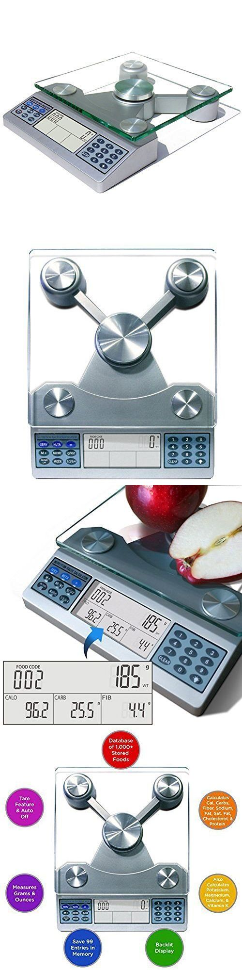 Kitchen Scales 50419 Digital Nutrition Scale Food And Nutrient Calculator Carb Count Diabetes Tool