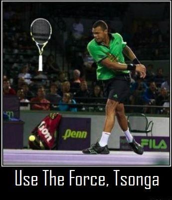 Jo-Wilfried Tsonga is a Jedi