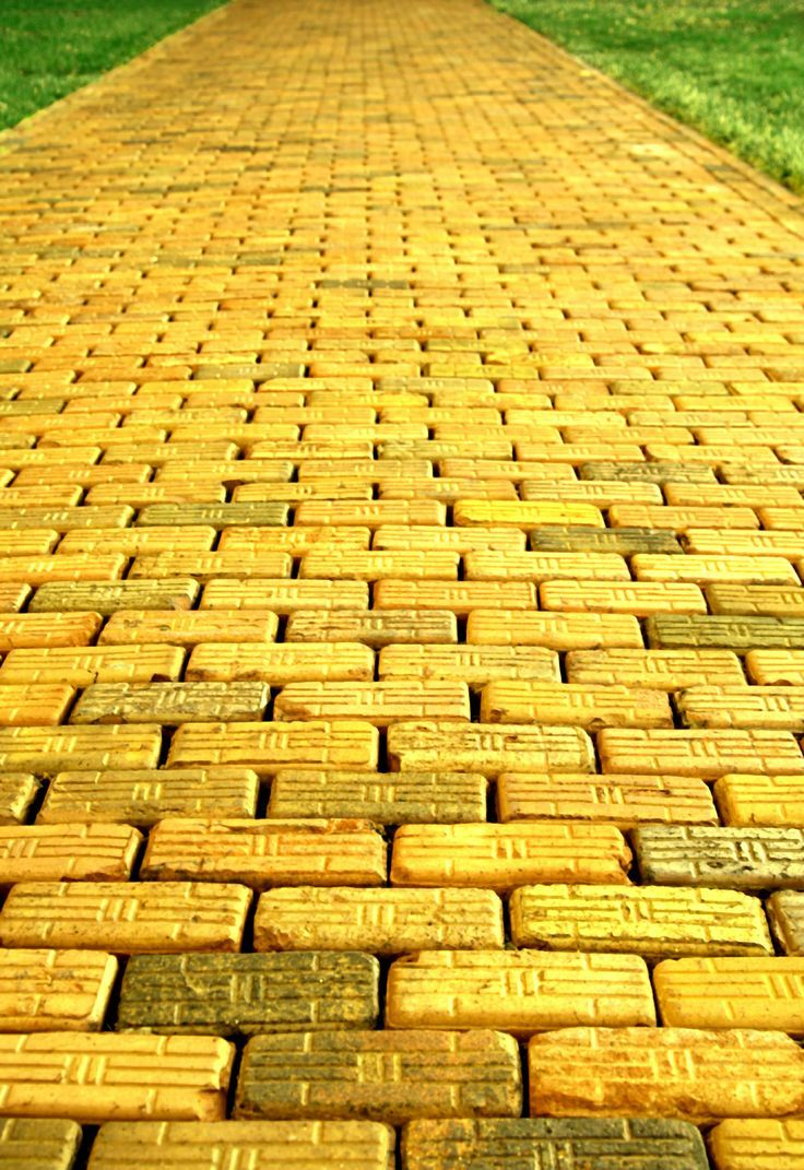 'follow the yellow brick road'