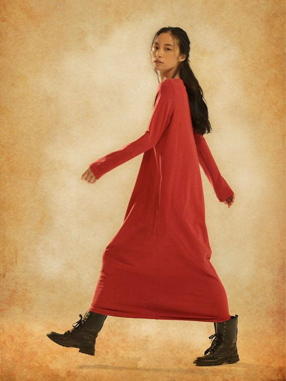 Longsleeved winter dress Extravagant creation for those who want to experiment step by step! ♥ long length and loose fitting freedom of motion and