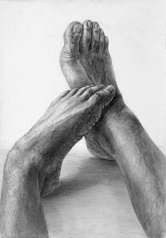 構成デッサン「足」|在学生作品集|芸大・美大受験予備校|河合塾美術研究所