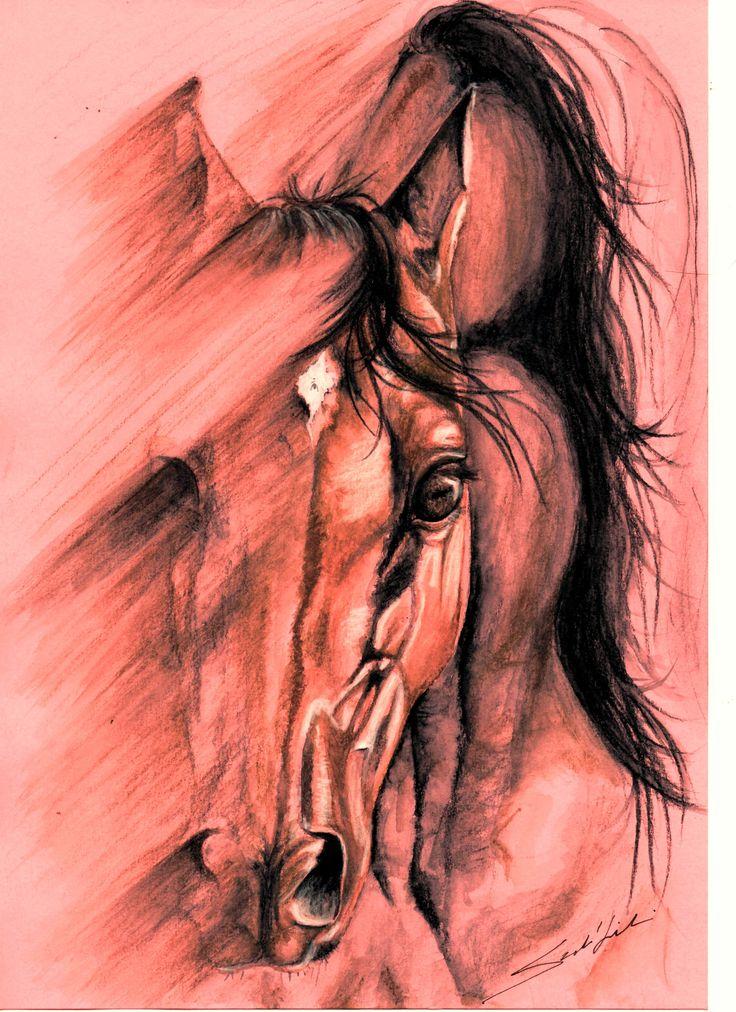 Blurred horse