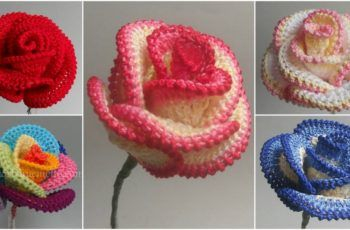 How to Crochet Pretty Roses (Video)