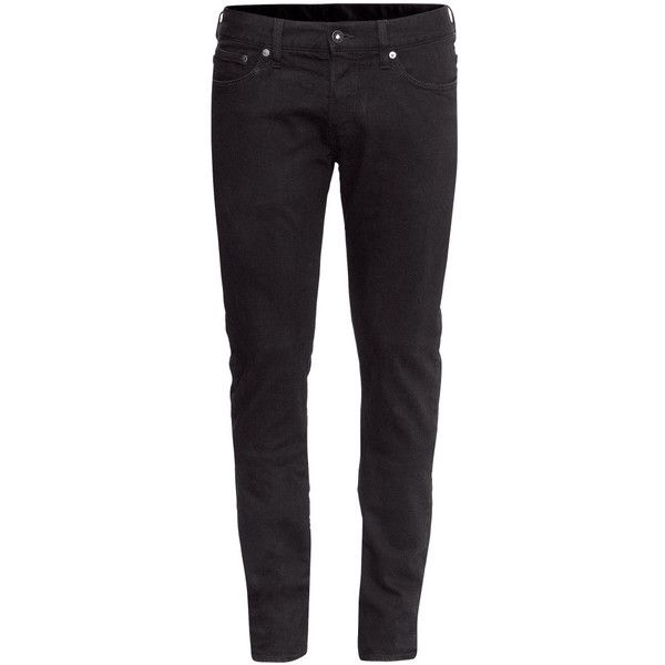 Slim Low Jeans $29.95 ($30) ❤ liked on Polyvore featuring jeans, pants, men, bottoms, h&m jeans, low rise jeans, mens jeans, h&m and slim fit jeans
