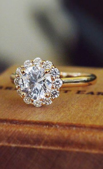 17 Best Ideas About Flower Diamond Rings On Pinterest
